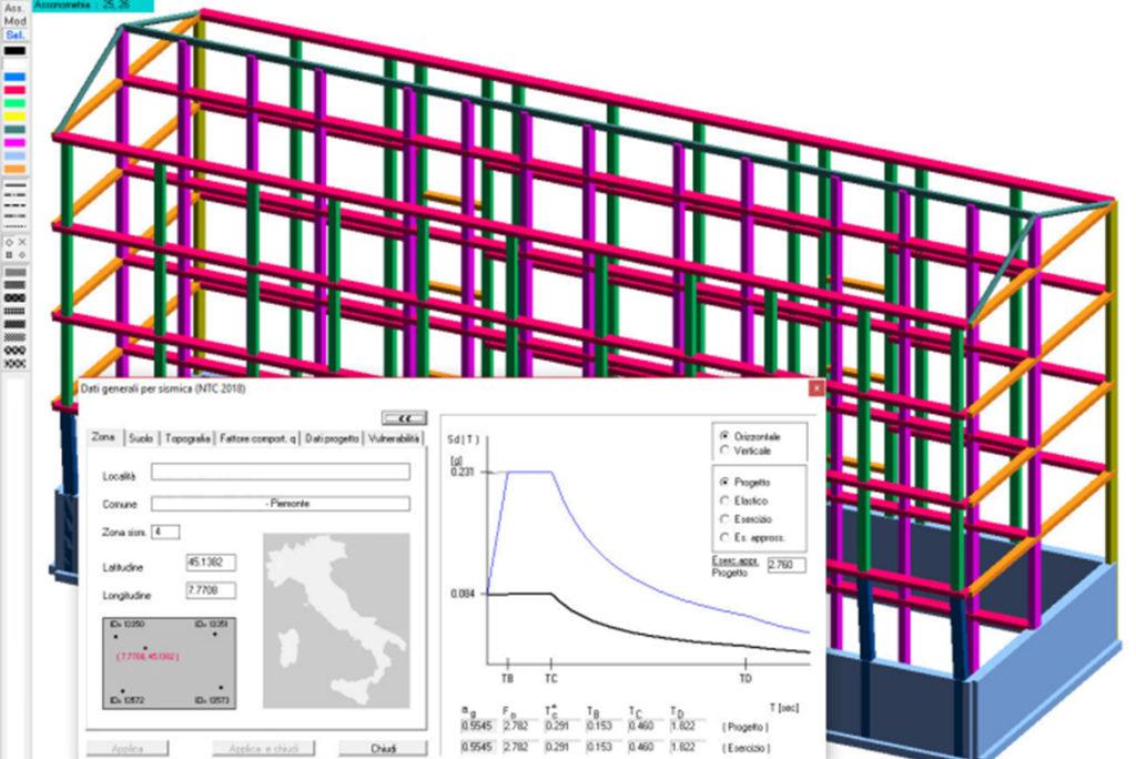 Modello strutturale - valutazione della vulnerabilità sismica Settimo torinese
