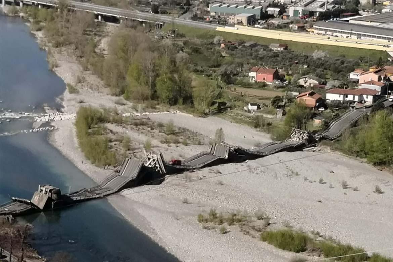 Crollo Albiano ponte