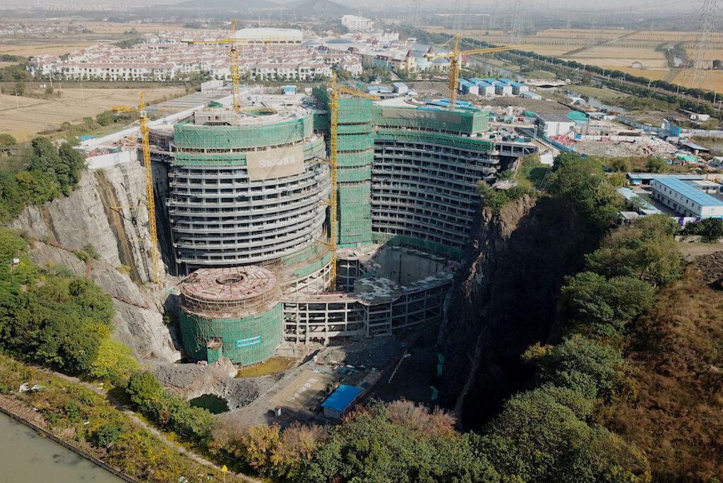 shimao wonderland hotel costruzione