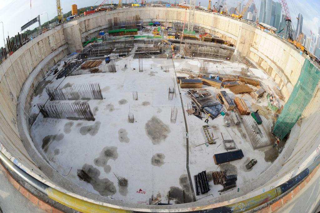 Marina Bay Sands progettazione geotecnica